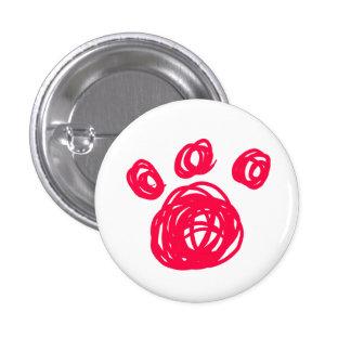 Botón rosado de la pata del gato pin