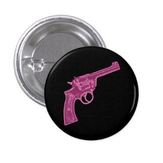 Botón rosado de la pistola pin redondo de 1 pulgada