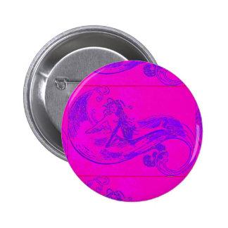 botón rosado de la sirena de la onda
