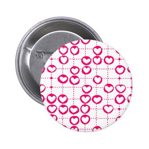 Botón rosado de los corazones