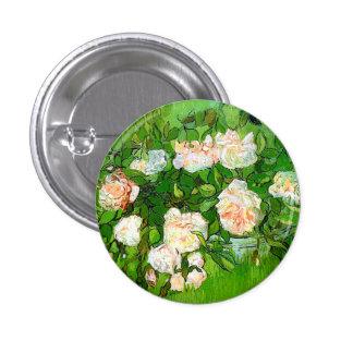 Botón rosado de los rosas de Van Gogh Pin