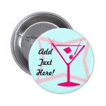 Botón rosado de Martini Pins