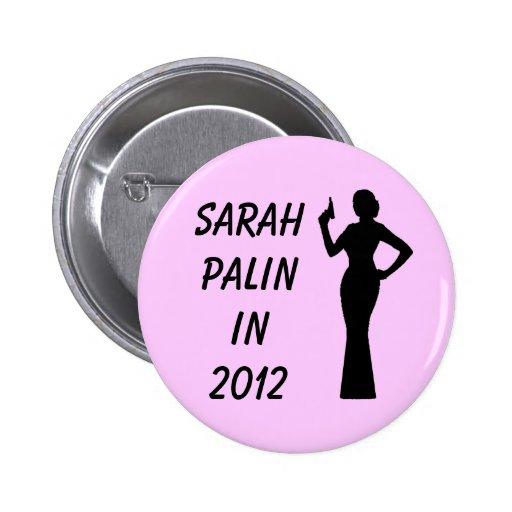 Botón rosado de Sarah Palin en 2012