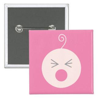 Botón rosado del bebé del grito