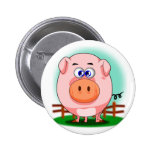 Botón rosado del cerdo pins