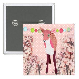 Botón rosado del cervatillo de la flor de cerezo pins