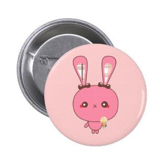 Botón rosado del conejito pin