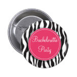 Botón rosado del fiesta de Bachelorette del estamp Pins