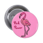Botón rosado del flamenco del poder del BB Pin