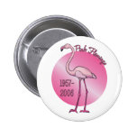 Botón rosado del flamenco pin