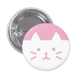 botón rosado del gato pin redondo de 1 pulgada