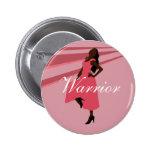 Botón rosado del guerrero pin