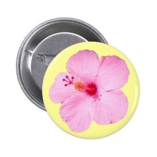 Botón rosado del hibisco pins