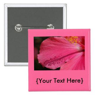 Botón rosado del hibisco