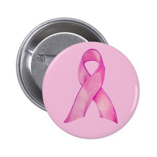 Botón rosado del rosa de la cinta pin redondo de 2 pulgadas