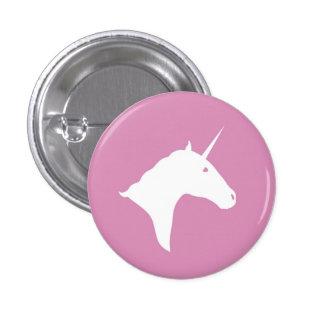 Botón rosado del unicornio pin