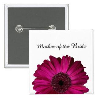 Botón rosado elegante del boda de la margarita del pins