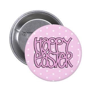 Botón rosado feliz del punto de Pascua Pin