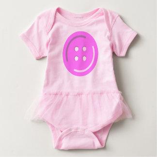 Botón rosado intrépido grande en juego del cuerpo body para bebé