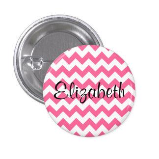 Botón rosado personalizado del modelo de Chevron Pins