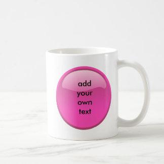 botón rosado taza