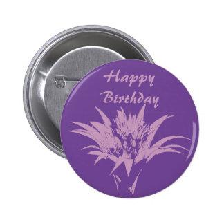 Botón rosado y púrpura de Aechmea Pin