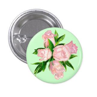 Botón, rosas de té híbridos rosados pins