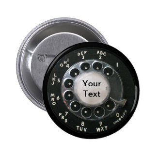 Botón rotatorio del dial del teléfono pins