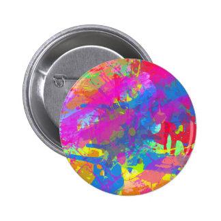 Botón salpicado de la pintura pins