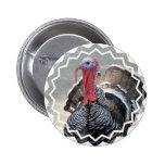 Botón salvaje de la imagen de Turquía Pins