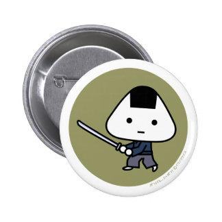 Botón - samurai de Riceball - GoldBack Pin