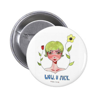 Botón sarcástico de la reina pin redondo de 2 pulgadas