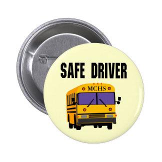 Botón seguro del conductor del autobús escolar pin redondo de 2 pulgadas