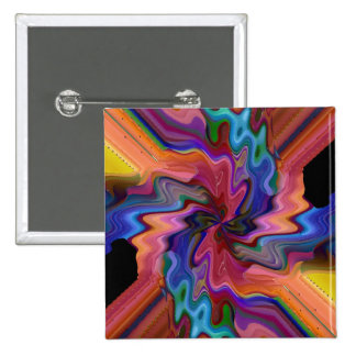 Botón sensacional del átomo pin cuadrado