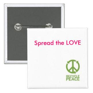 BOTÓN - separe el AMOR - Reciclar-Paz Pin