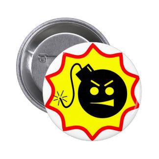 Botón serio del logotipo de Sam's Pin Redondo De 2 Pulgadas