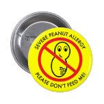Botón severo de la alergia del cacahuete pins