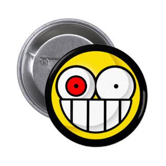 Botón sicopático sonriente pin