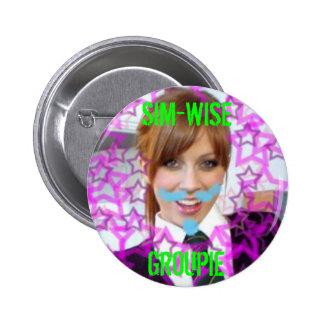 botón sim-sabio de Alex, GROUPIE de SIM-WISE Pin Redondo De 2 Pulgadas