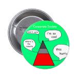 Botón social de la pirámide pin