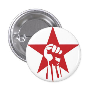 Botón socialista del puño pin redondo de 1 pulgada