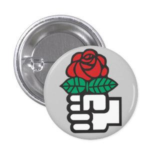 Botón socialista pin redondo de 1 pulgada