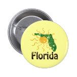 Botón soleado de la Florida Pin