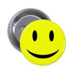 Botón sonriente amarillo de la cara pins
