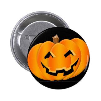 Botón sonriente de la calabaza de Halloween Pin