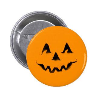Botón sonriente de la calabaza pin