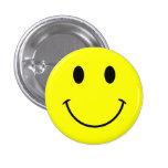 Botón sonriente de la cara pin redondo de 1 pulgada
