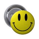 Botón sonriente de la cara pin redondo de 2 pulgadas