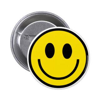 Botón sonriente de la cara pins