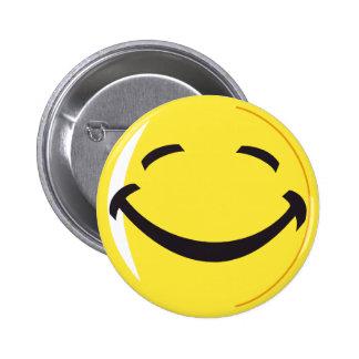 Botón sonriente de la insignia de la cara pin redondo de 2 pulgadas